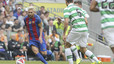 Barcelona use four captains in friendly against Celtic in Dublin
