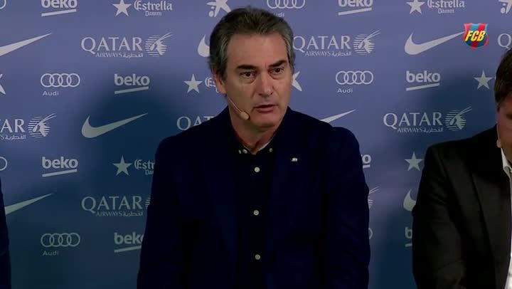 """Segura: """"Confiamos en Gerard como en los otros entrenadores"""""""