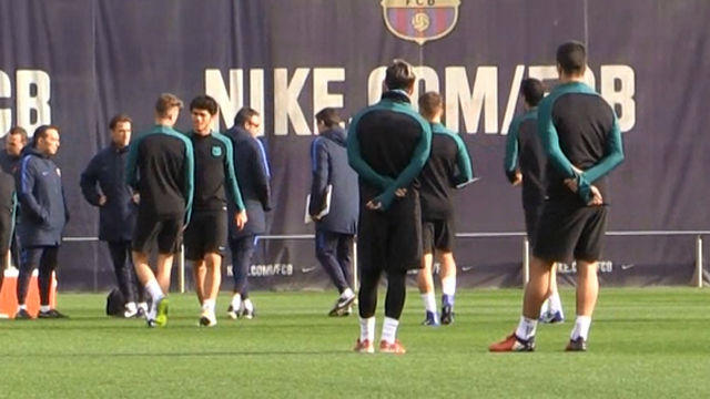 Así fue el último entrenamiento del Barça antes de jugar contra el Gladbach