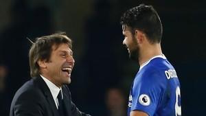 Conte vuelve a ser feliz con la actitud de Diego Costa