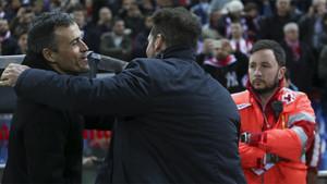 Luis Enrique y Simeone vuelven a verse las caras en el Calderón
