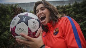 Mariona Caldentey, en la sesión fotográfica con SPORT antes del PSG-Barça