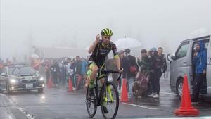 Oscar Pujol, líder de la Vuelta a Japón