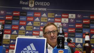 Anquela ha sido presentado como nuevo entrenador del Oviedo
