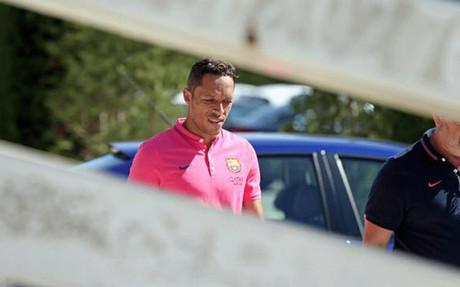 Adriano Correia, en las instalaciones de la Ciutat Esportiva Joan Gamper este lunes