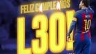 Así ha felicitado el Barça a Leo Messi por su 30 cumpleaños
