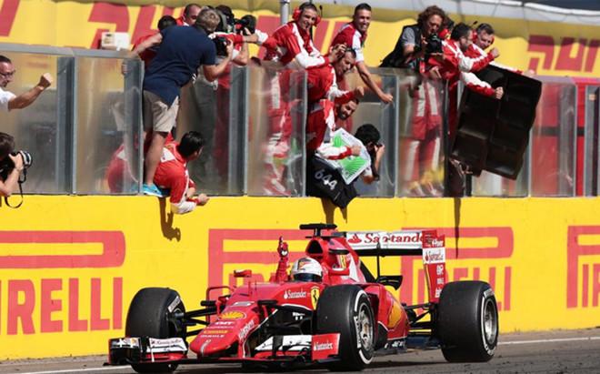 Ferrari se impuso con Vettel en el �ltimo GP Hungr�a
