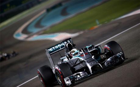 Lewis Hamilton, dominado en Abu Dabi en la dos tandas del viernes