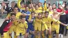 Los jugadores del Reus, celebrando el triunfo en el vestuario