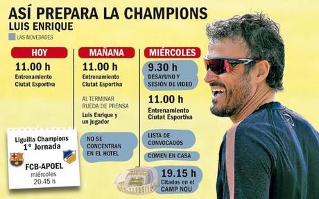 Luis Enrique optar� por no concentrar a sus jugadores en la Champions