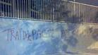 Pintadas contra la junta directiva en el Camp Nou