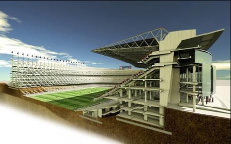 Una maqueta de lo que puede ser el futuro Camp Nou