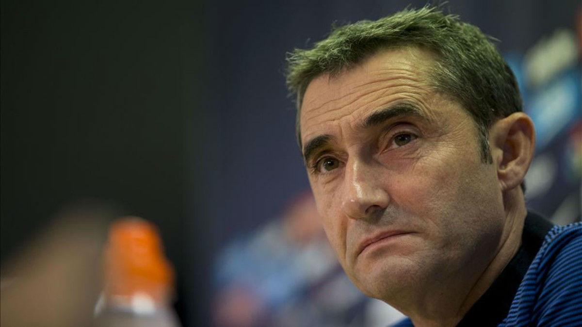 Valverde compareció en rueda de prensa para hablar del partido ante el Leganés