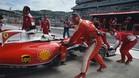 Vettel, con problemas de fiabilidad en su Ferrari