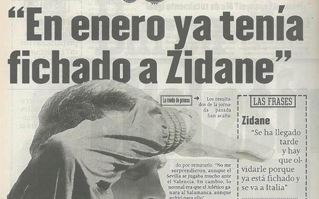 Zidane, el �ltimo fichaje de Cruyff
