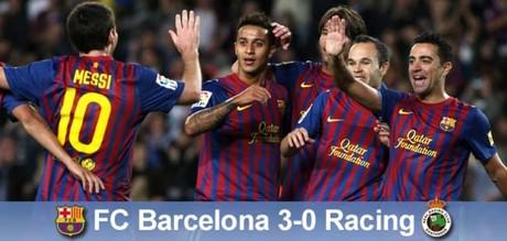 Messi, celebrando uno de sus dos goles con sus compa�eros