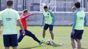 El Barcelona ha entrenado en la Ciudad Deportiva