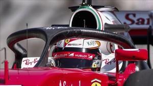 Raikkonen, durante un test con el Halo en su Ferrari