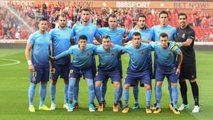 Este fue el primer once del Girona en la pretemporada 2017-2018