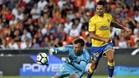 Vitolo jugó este pasado viernes en Valencia con la camiseta de la UD Las Palmas