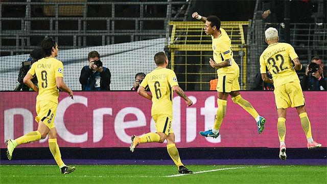 LACHAMPIONS   Anderlecht - PSG (0-4): Neymar marcó el 0-3 de falta directa