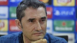 Valverde comparece en la sala de prensa
