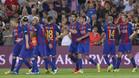 Los jugadores del FC Barcelona celebran un gol en la Liga 2016/17