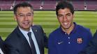 Bartomeu anuncia el acuerdo de renovación con Luis Suárez