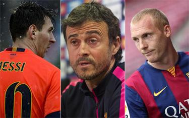 Mathieu confirma el conflicto Messi-Luis Enrique
