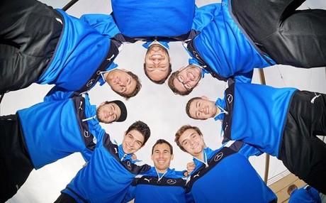 Los ocho pilotos oficiales del equipo Mercedes-Benz en el DTM