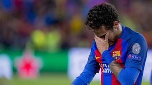 Neymar Junior al final del Barça-Juventus de la Champions 2016/17