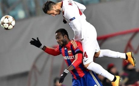 Sigue la igualdad en el Grupo E tras el empate entre el CSKA y la Roma