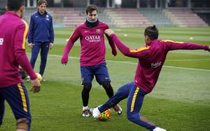 El Barça completó el último entrenamiento antes del duelo de este domingo frente al Celta