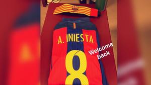 La camista de Andrés Iniesta