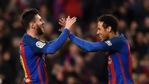 Messi y Neymar se lo pasaron en grande