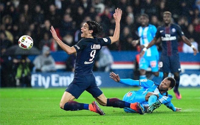 Cavani fue incapaz de perforar la meta del Marsella