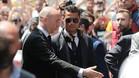 Cristiano, la estrella en la llegada del Madrid a Mil�n