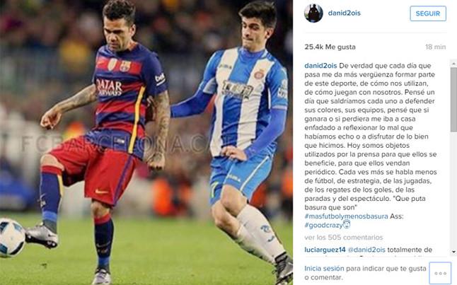 """Alves 'raja' contra la prensa... """"�Qu� puta basura que son!"""""""