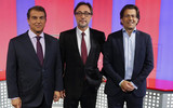 Joan Laporta, Agust� Benedito y Toni Freixa durate la campa�a electoral