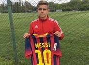 Joaqu�n Messi quiere seguir los pasos de su �dolo