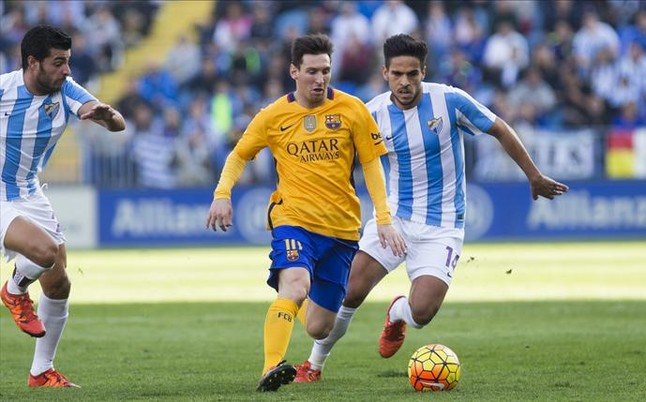 Messi sale al rescate en Málaga