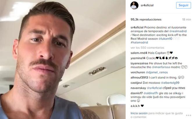 Sergio Ramos habla desde su cuenta de Instagram