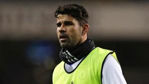 Diego Costa se he entrenado este lunes en solitario y sigue apartado del equipo
