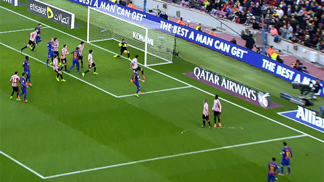 Video resumen: El golazo de Messi de falta en el FC Barcelona - Athletic (3-0). J21 Liga Santander 16-17