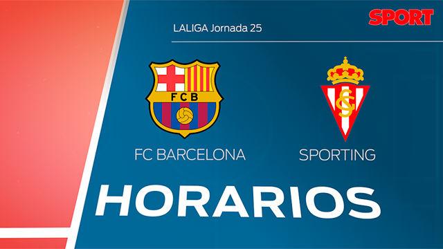 Horarios: FC Barcelona - Sporting