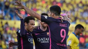 Neymar fue el gran protagonista del partido con sus tres goles