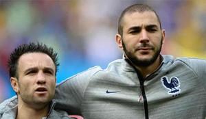Benzema, junto a Mathieu Valbuena