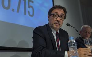 Benedito, durante su rueda de prensa