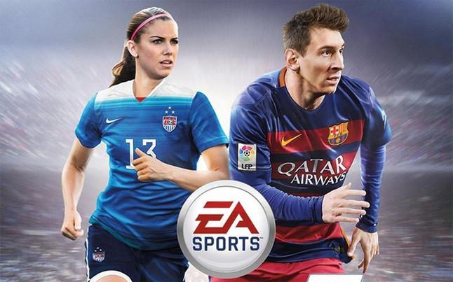 Alex Morgan, compañera de Leo Messi en la portada del FIFA 16 en USA