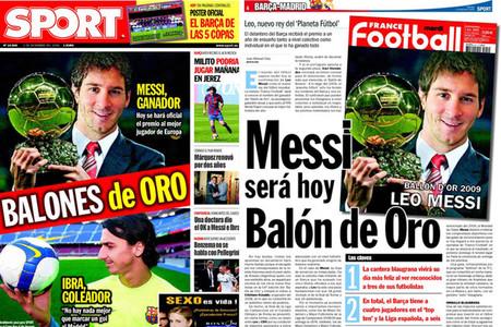 Se cumplen seis a�os del primer Bal�n de Oro de Leo Messi